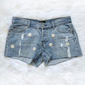 RAILS Cut Off Denim Shorts in Vintage Daisy!